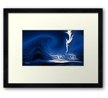 How Deep Is The Ocean-Abstract+Products Design Framed Print