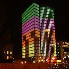 VIENNA CITY LIGHTS Nr.2027 - UNIQA-Building by Wolfgang Pawlik