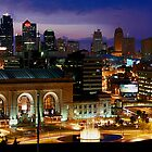 Kansas City Mo Skyline by Scott Shaffer