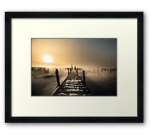 I rest here Framed Print