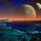 Offworld Moonsrise by blacknight