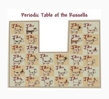 periodic table of the jack russells by johnkratovil