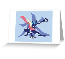 Greninja with Water Kanji Greeting Card