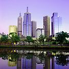 Melbourne CBD by Christine  Wilson