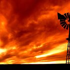 Fiery Sky by Izak van der Merwe
