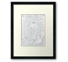 Grimes / Visions (black) Framed Print
