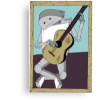 Robot Art after Picasso's Old Man with Guitar Canvas Print