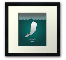 Literary Classics IllustrationSeries: Moby Dick Framed Print