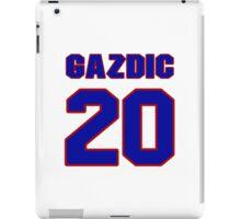 National Hockey player Luke Gazdic jersey 20 iPad Case/Skin