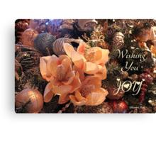 Elegant Decorations for Christmas Canvas Print