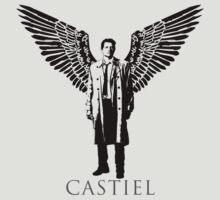 Castiel Stencil by Paul Elder