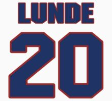 National Hockey player Len Lunde jersey 20 by imsport