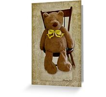Storybook Teddy Bear with a Ribbon Greeting Card