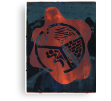 Silkscreens - 0004 - Fire On The Mountain Canvas Print