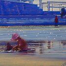 Drip Castles, The Round Pool, Newcastle Beach, NSW, Australia by Carole Elliott