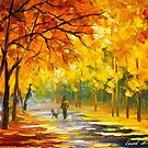 Walking My Dog — Buy Now Link - www.etsy.com/listing/213008267 by Leonid  Afremov