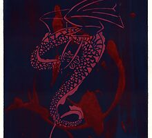 Silkscreens - 0007 - Spiral Dragon With O by wetdryvac