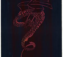 Silkscreens - 0008 - Spiral Dragon by wetdryvac