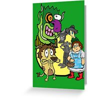 Courage the Cowardly Lion of OZ Greeting Card