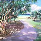 Ballina Beach Pathway by Virginia McGowan