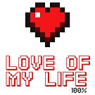 Pixel Heart Love Computer Games by Tee Brain Creative