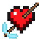Comic Pixel Heart, Cupid's Pickaxe by Tee Brain Creative