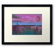 Sail into the sea Framed Print