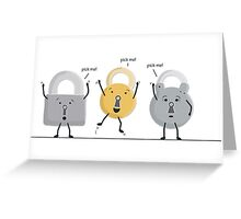 lock picking Greeting Card