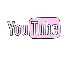 Youtube Logo in PINK! Photographic Print