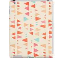 Back & Forth - triangle abstract pattern in peach, aqua & cream iPad Case/Skin