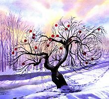 Christmas Apple Tree by Judith A. Gosz