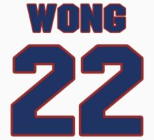 National Hockey player Mike Wong jersey 22 by imsport