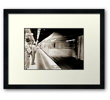 The train cometh..... Framed Print