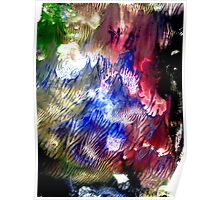 Multi Colored Acrylics Texture Poster