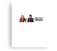 Emma + Henry + the two idiots Canvas Print