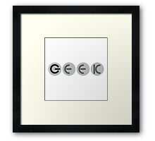 Geek power buttons Framed Print