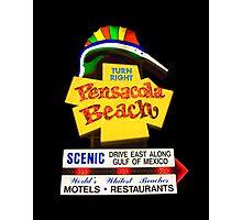 Pensacola Beach Sign Photographic Print