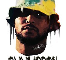 ScHoolboy Q Oxymoron - Original Print - benmcArts by Ben McCarthy