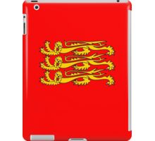 Royal Banner of England, Three Lions, 3 Lions, English, British, Britain, UK, RED iPad Case/Skin