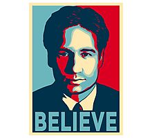 FOX MULDER BELIEVE Photographic Print