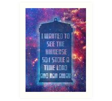 See the Universe Art Print