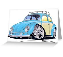 VW Beetle (Custom B) Greeting Card