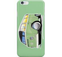 VW Bay Window Camper Van Light Green iPhone Case/Skin