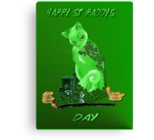 St. Paddys Day Kitty Canvas Print