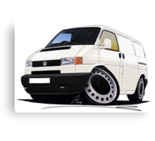 Volkswagen T4 Transporter (Bumper) White Canvas Print