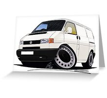 Volkswagen T4 Transporter (Bumper) White Greeting Card