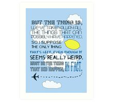 Martin Crieff Quote Art Print
