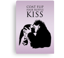 Sherlock and Molly Kiss II Canvas Print