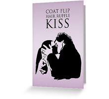 Sherlock and Molly Kiss II Greeting Card