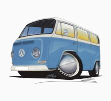 VW Bay (Early) Light Blue by Richard Yeomans